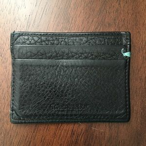 Tiffany Men's Unisex Leather Wallet Card Case